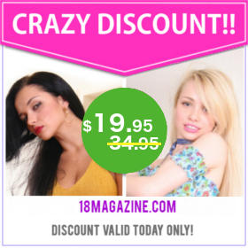 Get 43% Off with this discount to 18 Magazine!